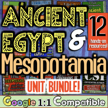 Ancient Egypt and Mesopotamia Bundle!  7 Fun Resources for