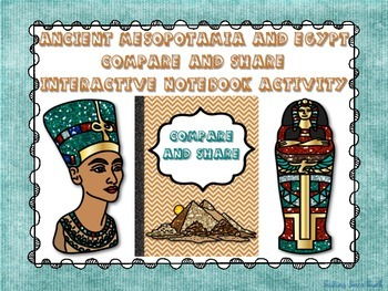 Ancient Egypt and Mesopotamia Compare and Share - Interactive Notebook Activity
