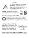 Ancient Egypt and Mesopotamia Informational Text and Graph