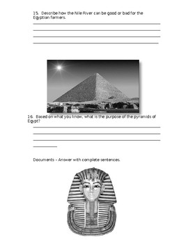 Ancient Egypt and Nubia test