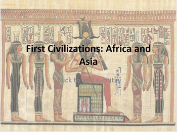 Unit 2: Ancient Egypt and the Fertile Cresent (World Histo
