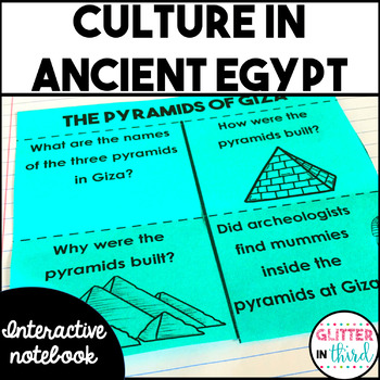 Ancient Egypt culture & contributions interactive notebook