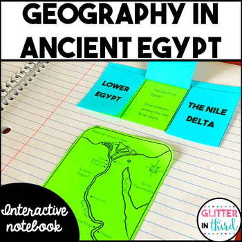 Ancient Egypt geography & map activities interactive notebook