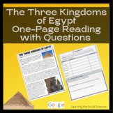 Ancient Egypt's Three Kingdoms Quick Read: 1 Page Reading with Questions