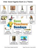 Ancient Egypt Timeline Lesson Plan and Worksheet / Activity