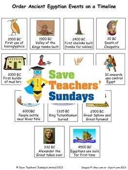 Ancient Egypt unit (8 lessons)