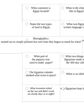 Ancient Egypt_Study Cards_2nd Grade