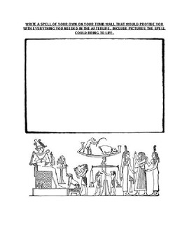 Ancient Egyptian Book of the Dead Worksheet and Assignment