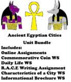 Ancient Egyptian Cities Assignment/Worksheet Unit Bundle