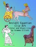 Egyptian Clip Art - Realistic Ancient History - 300 dpi PNG