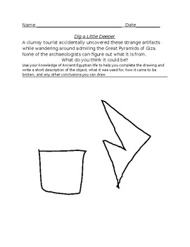 Ancient Egyptian Creative Activity- Complete the Artifact