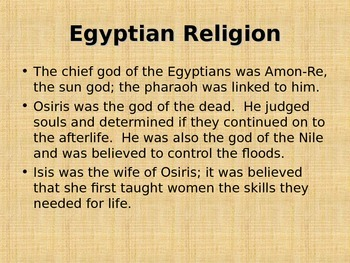 Ancient Egyptian Culture Presentation