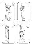 Ancient Egyptian Gods Cut and Paste Activity (Egypt)