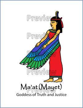 Ancient Egyptian Gods and Goddesses Printout