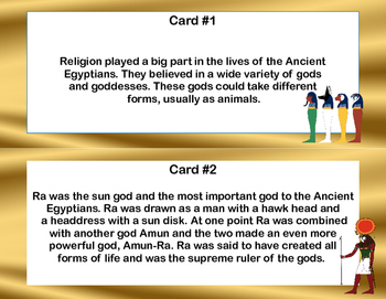 Ancient Egyptian Gods and Goddesses Scavenger Hunt- Read and The Room-Grades 4-7