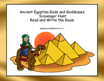 Ancient Egyptian Gods and Goddesses Scavenger Hunt- Read a
