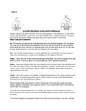 Ancient Egyptian Gods and Goddesses and wanted poster worksheet