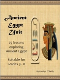 Ancient Egyptian History - 25 lessons including vocab, games, Gods and more!