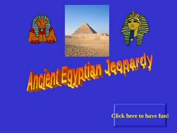 Ancient Egyptian Jeopardy