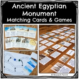 Ancient Egyptian Monument Matching Cards and Games