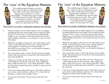 Ancient Egyptian Mummy Case