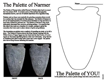 Ancient Egyptian Palette of Narmer Drawing Activity