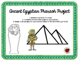 Ancient Egyptian Pharaoh Project - Writing & Sarcophagus Design
