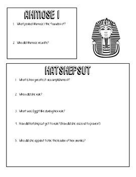 Ancient Egyptian Pharaoh Research Project