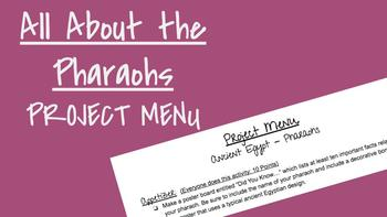 Ancient Egyptian Pharaohs - Project Menu