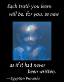 """Ancient Egyptian Proverb Motivational Poster """"Each Truth y"""