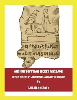 Ancient Egyptian Secret Message!(Review Activity/Enrichment)