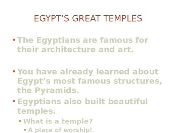 Ancient Egyptian Temples, Tombs and Art