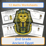 Ancient Egyptian Themed Maths Worksheets - 2nd Grade