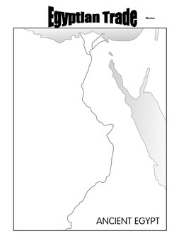 Ancient Egyptian Trade- map activity