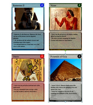 Ancient Egyptian Trading Cards, Bingo/Slideshow and Puzzle Combo