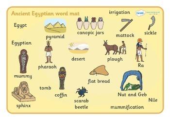 Ancient Egyptian Word Mat