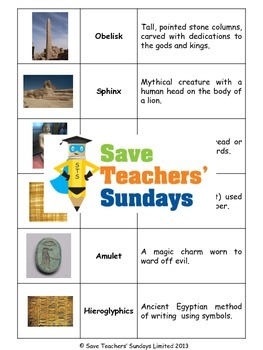 Ancient Egyptian artifacts Lesson plan and Activities
