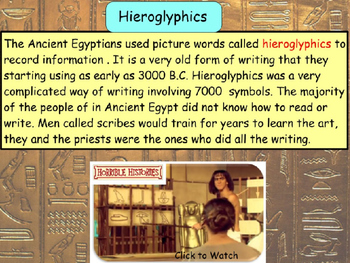 Ancient Egyptians - Cartouches