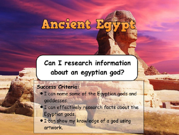 Ancient Egyptians - Egyptian Gods