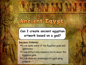 Ancient Egyptians - Egyptian Gods (Art Activity)