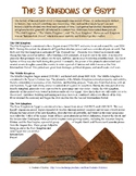 Ancient Egypt's Kingdoms Reading & Worksheet