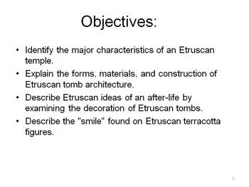 Ancient Etruscan Art and Architecture