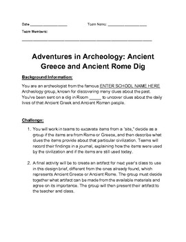 Ancient Excavation Project
