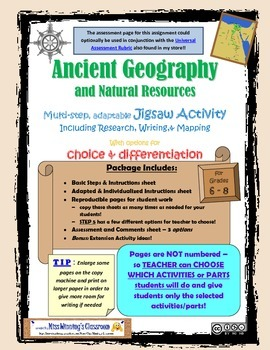 Ancient Geography Differentiated Research, Writing, and Mapping Jigsaw Activity