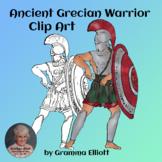 Ancient Grecian Warrior Clip Art