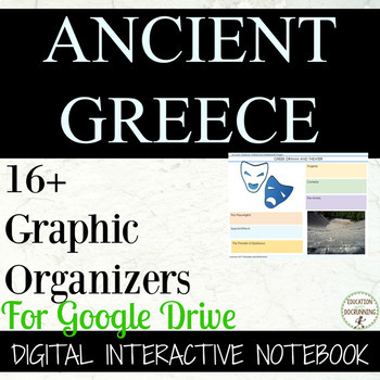 Ancient Greece 16+ Digital Interactive Notebook for Google Drive and 1:1