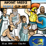 Ancient Greece People: 16 pc. Clip-Art  8(BW and Color!) 8 BW/ 10Color!