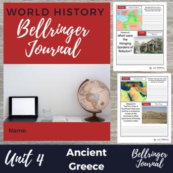 Ancient Greece 20 Bellringers Warm Ups - DBQ