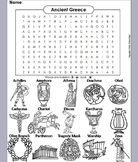 Ancient Greece Activity: Word Search Worksheet