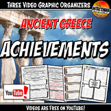 Ancient Greece Achievements YouTube Video Graphic Organize